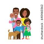 happy african american family... | Shutterstock .eps vector #640460362