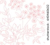 seamless pattern with floral... | Shutterstock .eps vector #640460632