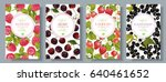 vector berry vertical banners... | Shutterstock .eps vector #640461652