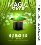 magic show poster design... | Shutterstock .eps vector #640469872