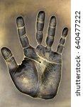 hand print   celebrity hand ... | Shutterstock . vector #640477222