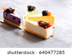 Variety Pieces Of Cheesecake...