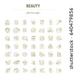 vector graphic set. icons in... | Shutterstock .eps vector #640479856