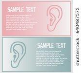 business cards design. vector... | Shutterstock .eps vector #640487572