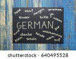 concept of learning german... | Shutterstock . vector #640495528