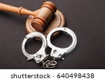 Gavel And Handcuffs.