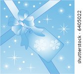 giftwrap with bow and tag   Shutterstock .eps vector #6405022