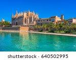 la seu  gothic medieval... | Shutterstock . vector #640502995