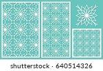 set of decorative panels laser...   Shutterstock .eps vector #640514326