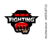 mma fighting. mixed martial... | Shutterstock . vector #640518712