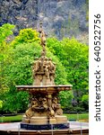 the ross fountain in princess... | Shutterstock . vector #640522756