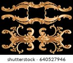 gold ornament on a black...   Shutterstock . vector #640527946