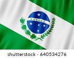 flag of parana  brazil. 3d...   Shutterstock . vector #640534276