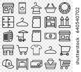 store icons set. set of 25... | Shutterstock .eps vector #640540702