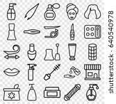 cosmetic icons set. set of 25... | Shutterstock .eps vector #640540978