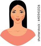portrait of a beautiful asian... | Shutterstock .eps vector #640541026