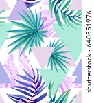 trendy young tropical pattern... | Shutterstock . vector #640551976
