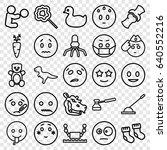 Cartoon Icons Set. Set Of 25...