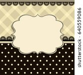 retro textile background in... | Shutterstock .eps vector #640559086