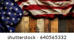 vintage red  white  and blue... | Shutterstock . vector #640565332