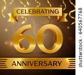 sixty years anniversary... | Shutterstock .eps vector #640567768