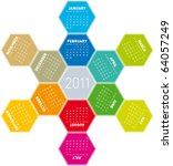 colorful calendar for year 2011 ... | Shutterstock .eps vector #64057249