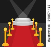 a stage with a red carpet...   Shutterstock .eps vector #640574416