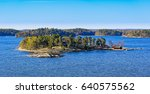 dwellings islands on stockholm... | Shutterstock . vector #640575562