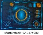 futuristic virtual graphic... | Shutterstock .eps vector #640575982