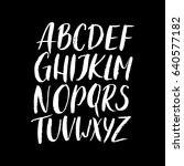 textured uppercase brushed... | Shutterstock .eps vector #640577182