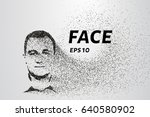 face of the particles. the face ...   Shutterstock .eps vector #640580902