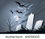 Spooky Halloween Grave Yard