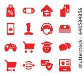 online icons set. set of 16... | Shutterstock .eps vector #640584856