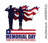 memorial day design with... | Shutterstock . vector #640585522