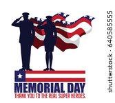 memorial day design with... | Shutterstock .eps vector #640585555
