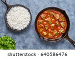 goulash traditional hungarian... | Shutterstock . vector #640586476