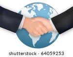 business handshake on the... | Shutterstock .eps vector #64059253