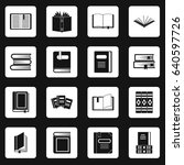 books icons set in white... | Shutterstock . vector #640597726