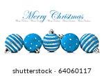Five Blue  Christmas Decoratio...