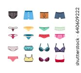 male and female underwear ...   Shutterstock . vector #640609222