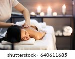 body massage and spa treatment... | Shutterstock . vector #640611685
