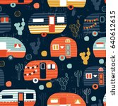 Vector Seamless Camping Pattern