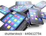heap of the different... | Shutterstock . vector #640612756