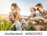 young people having summer... | Shutterstock . vector #640622452