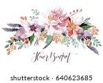 flower bouquet | Shutterstock . vector #640623685