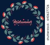 midsummer floral vintage frame  ...   Shutterstock .eps vector #640627726