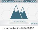 mountains icon vector... | Shutterstock .eps vector #640633456