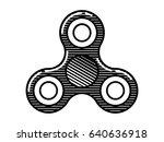 fidget spinner icon   toy for...   Shutterstock .eps vector #640636918