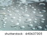Water Drops On The Car Hood ...