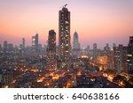 panoramic view of south central ... | Shutterstock . vector #640638166